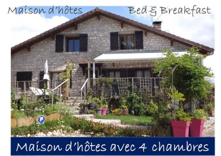 B&B for 1 -3 pers. (room Du Val)