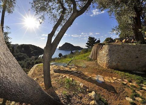 Studio mit Meerblick, 150 m vom Strand entfernt