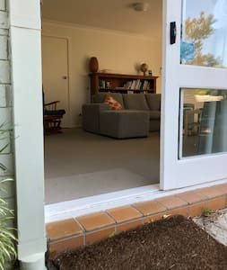 Sliding door to patio & garden