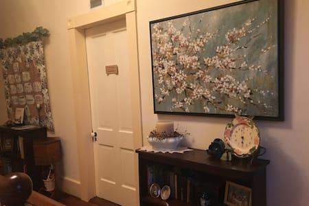 Wide doors to rooms.