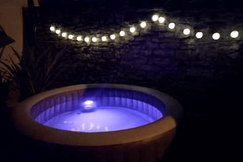 Cosy app with jacuzzi, BBQ and eco garden