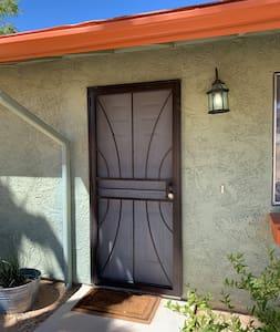 Front door entrance to Casa Linda