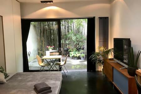 Spacious studio with private patio