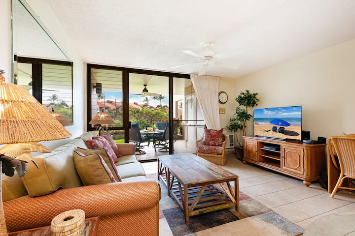 KAMAOLE SANDS 3-106-GROUND FLOOR-LARGE LANAI-AC