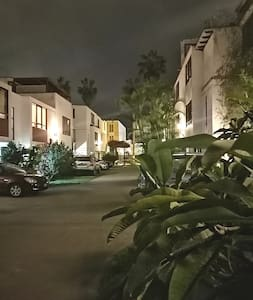 The compound at night