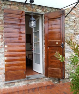 This is a double door, in the picture only one part of it is open