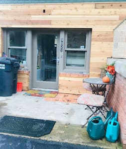 Level entry from driveway through indoors.