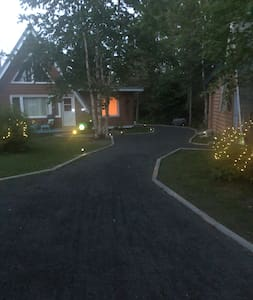 Walk way throughout with solar lights