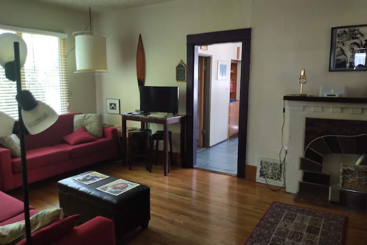 private, spacious main floor downtown suite