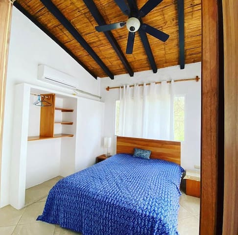 Bedrooms have ceilings and lots of natural light.