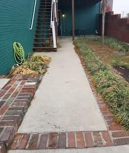Sidewalk to elevator