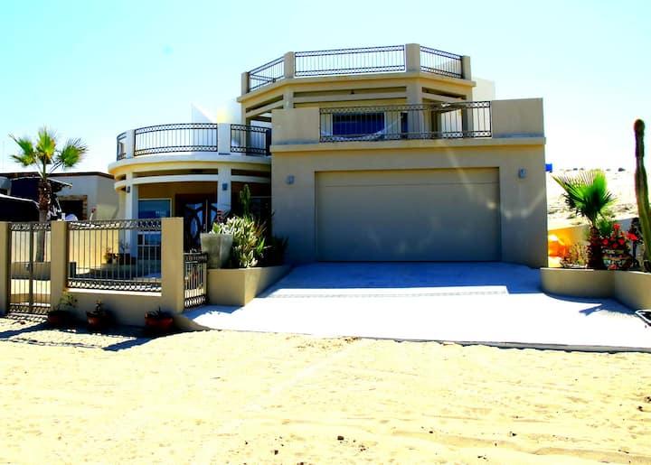 Mediterranean Beach Front Home