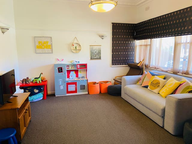 Rumpus Room/5th Bedroom with fold out queen koala sofa bed