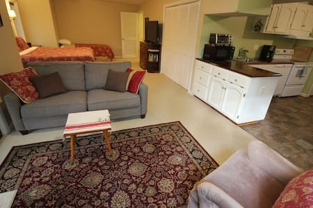 This apartment is a studio apartment which has no hallways.
