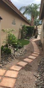 Walkway from casita guestroom to pool /yard