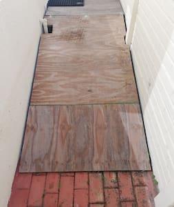 Small ramp at door