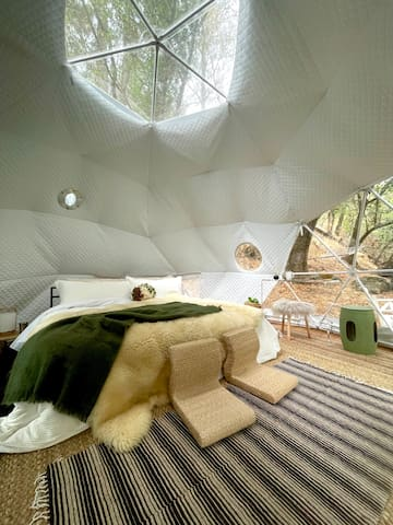 3rd bedroom is the geodome. King size bed.