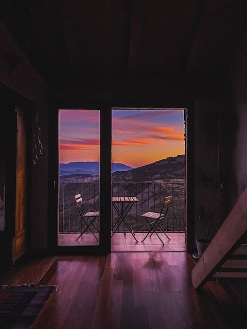 Pyrinee eco-house with stunning views