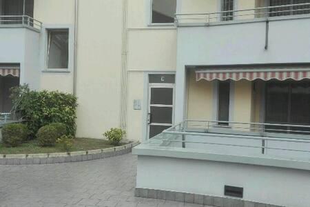 La casa si trova allo stesso livello del cortile esterno, dopo il portoncino
