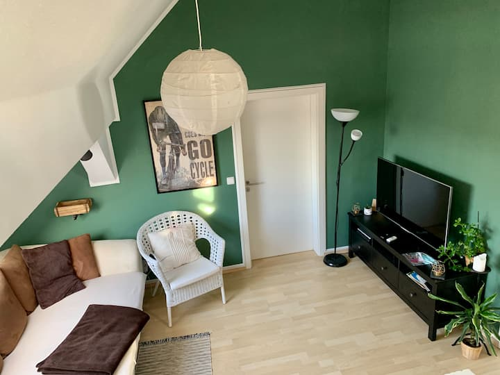 bright, open attic flat for jung travelers 100 qm