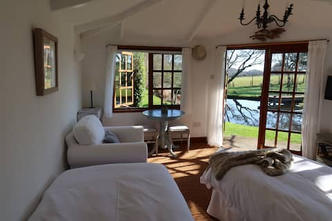 Studio overlooking Pond, Paddocks and Forest