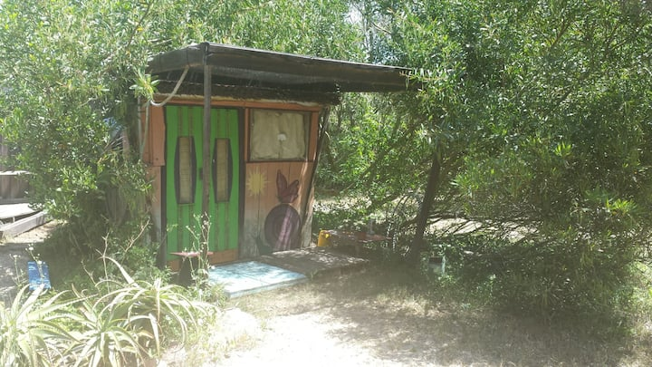 Tiny houses and camping in Valizas, Uruguay