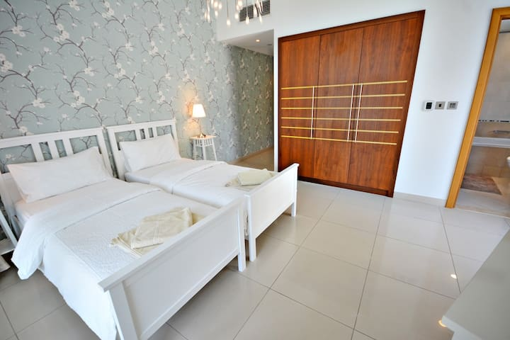 Bedroom 3. Twin room. Ensuite. Own spacious, separate balcony.