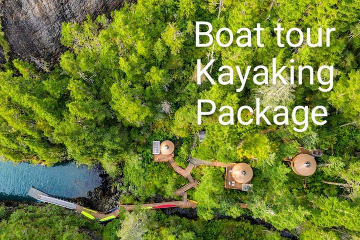 Boat Tour, Kayaking and Lodging Package #2