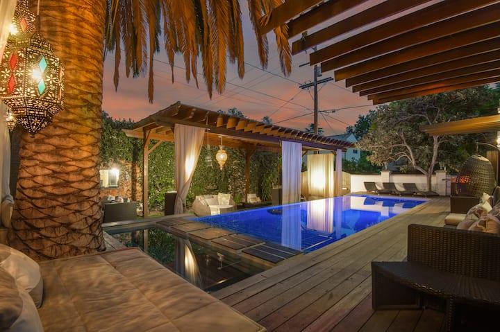 Modern Moroccan Pool Paradise near WEHO/Bev Center