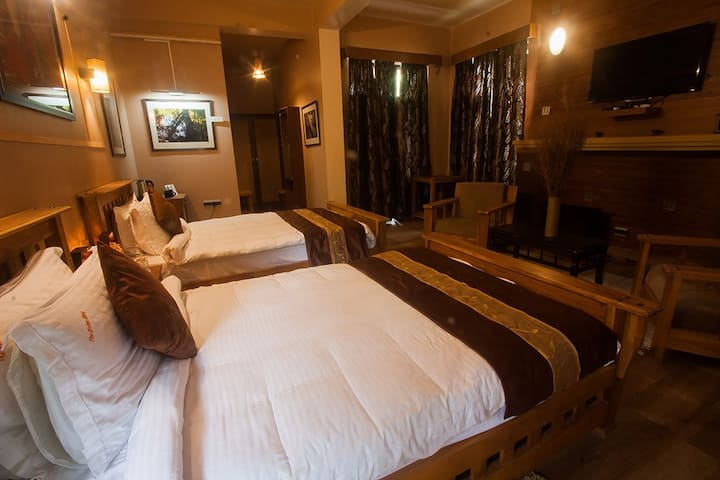 The Inderhaar Pass Large Deluxe Twin Bedroom