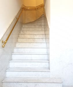 The stairs to the apartment