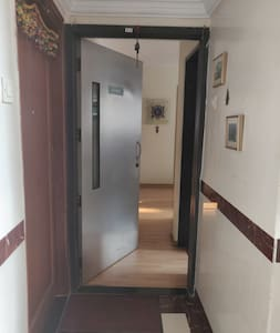 Entrance to apartment ..hallway is lit all night