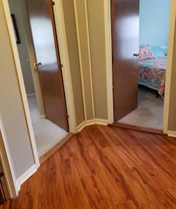 Entrance to two bedrooms 1 queen and one with 2 twins
