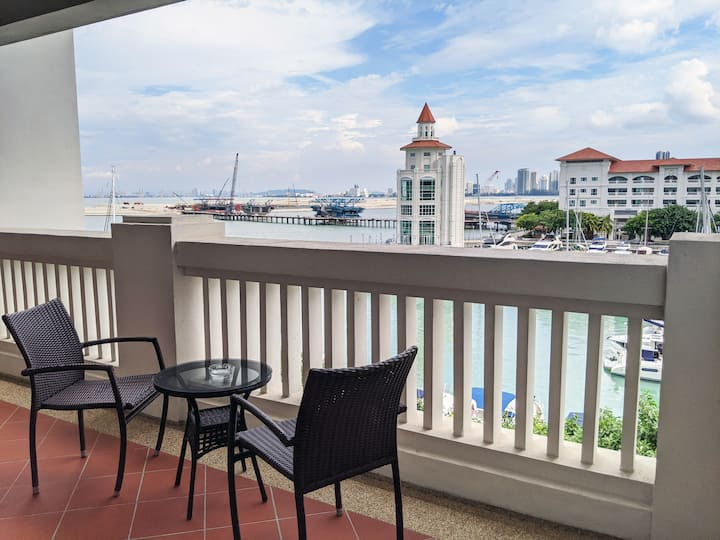 Beachfront Straits Quay Peaceful 1BR ⛨DISINFECTED