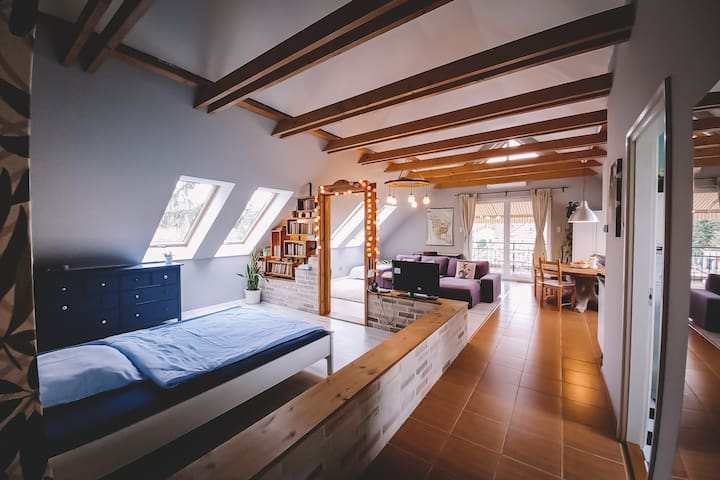 Amazing Design Studio Flat Near Budapest