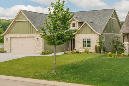 Direct access to the home through the garage or through the front door without steps.   All doors are three feet wide to accommodate wheel chairs.