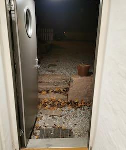 Main door, 90 cm opening.
