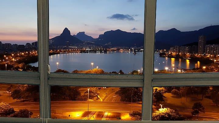 Lagoa, vista panorâmica entre Ipanema e Copacabana