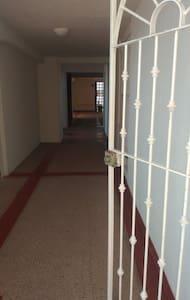 lights along hallway