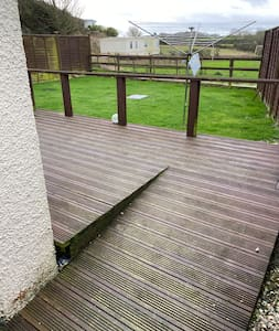 Ramp onto decking