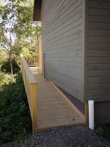 Ramp to back deck with 1/12 rise.