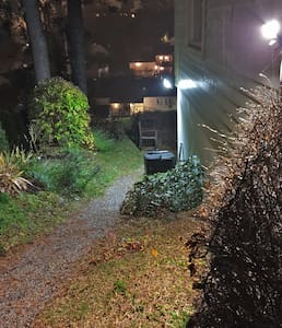 This is the path from where you park your car, to the door into the apartment.  The lights come on automatically.
