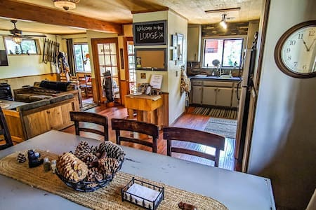 As soon as you step in from the patio, you walk straight into the mud room and then the great room. The bedrooms are on the same floor.