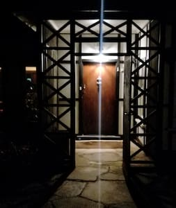 Well-lit entry
