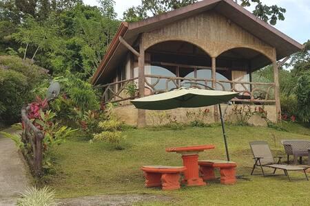 El camino a la cabaña es una rampa, además contamos con iluminación exterior y en el balcón