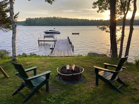 호숫가에서 즐기는 스테이케이션 또는 홈트레이닝!