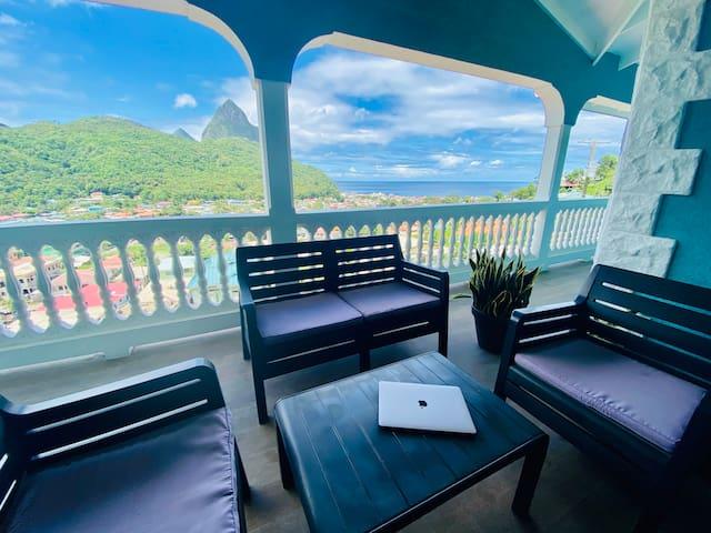 Sapphire 2 - $1M Pitons & Ocean Views +Beach 7 Min