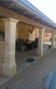 Various automatic lights around entrance and terrace