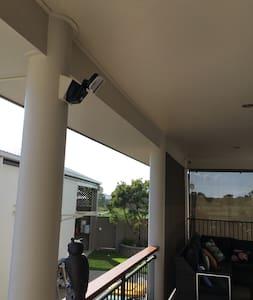 Sensor light to illuminate access to entry door.