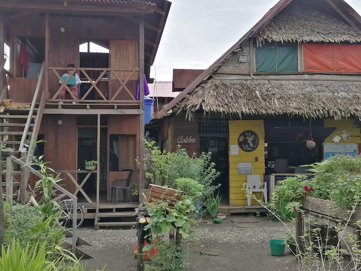Stay with locals, native wooden house on the beach